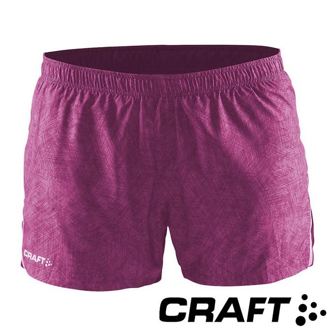 【瑞典CRAFT】女 Focus Race運動休閒短褲『紫』1903207