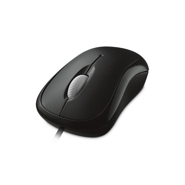 微軟 入門USB光學鯊 - 黑 盒裝 舒適精準的操控性