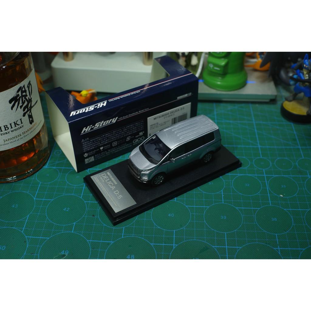 現貨Hi-Story模型 1/43 三菱 得利卡 Mitsubishi Delica D:5(2019)銀