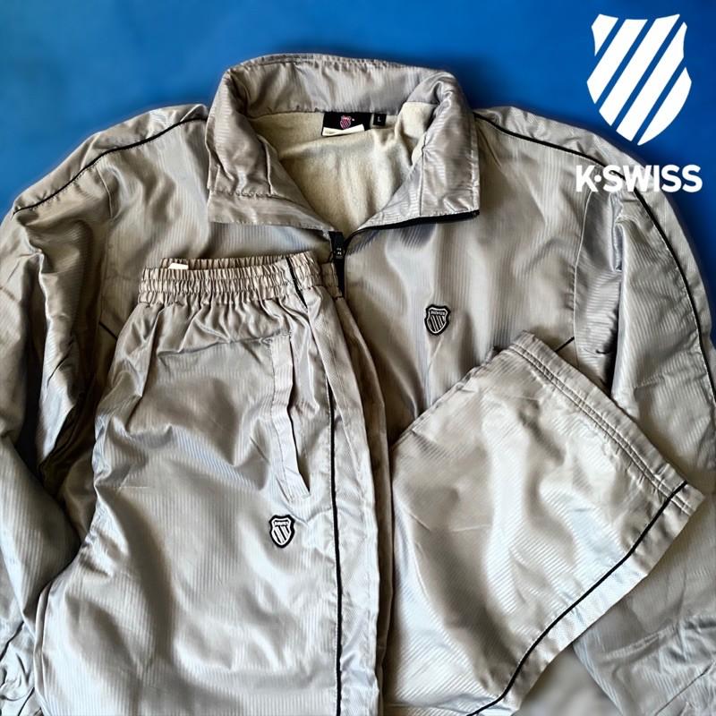 日本K-SWISS Warm Up 保暖套裝 風衣 運動套裝 外套 運動褲 復古 古著