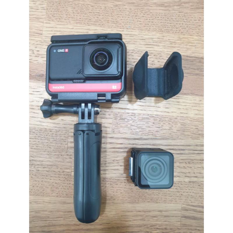 二手 insta360 one r 雙鏡頭套組 攝影機 ( 雙鏡頭(全景+4k) 360度 防水