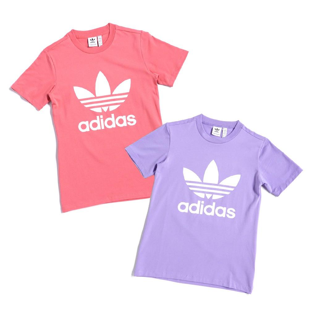 ADIDAS ADICOLOR 女款 三葉草 運動 休閒 短袖上衣 T恤 GN2905 粉紫 GN2907 粉
