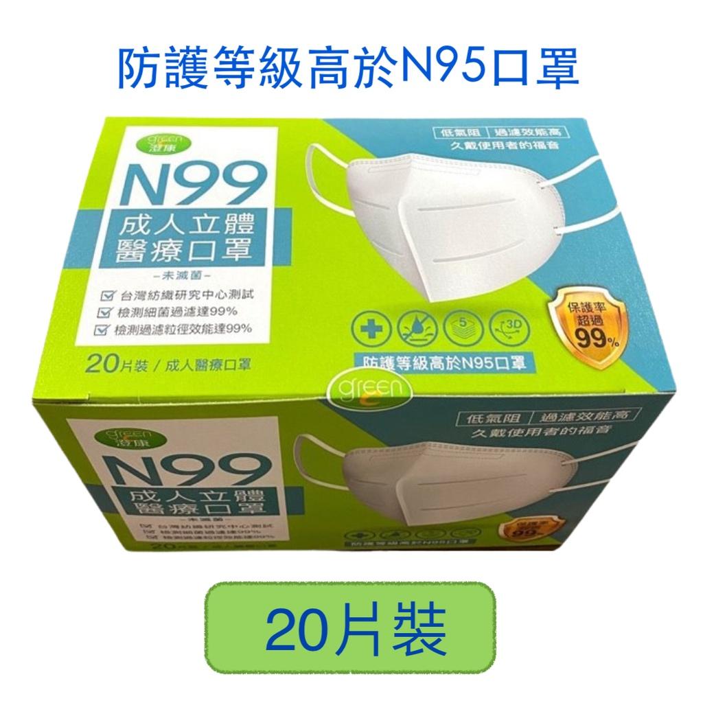 N99醫療用(防護高於N95等級)高防護口罩(一盒20片)
