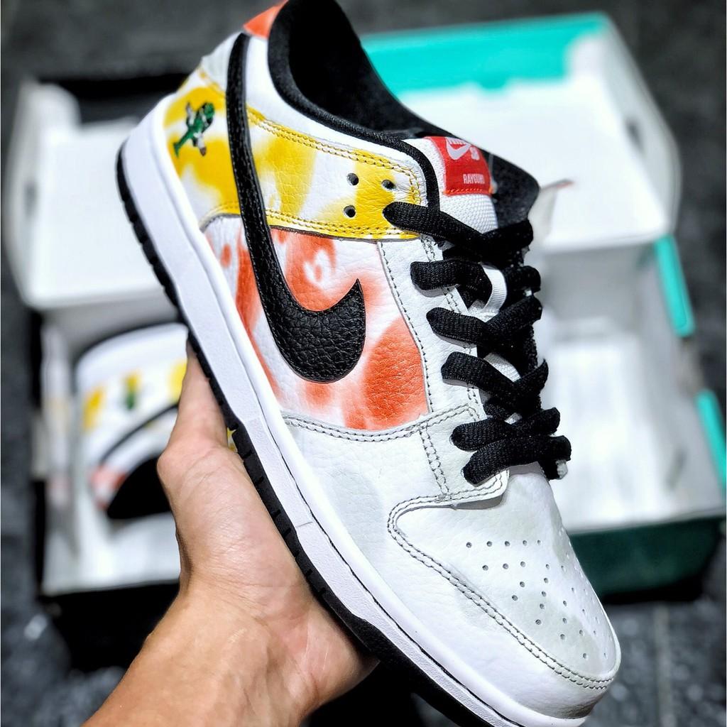 耐吉 Nike SB Dunk Low Raygun黑白紮染 外星人低幫休閒運動鞋 板鞋 BQ6832-001-101