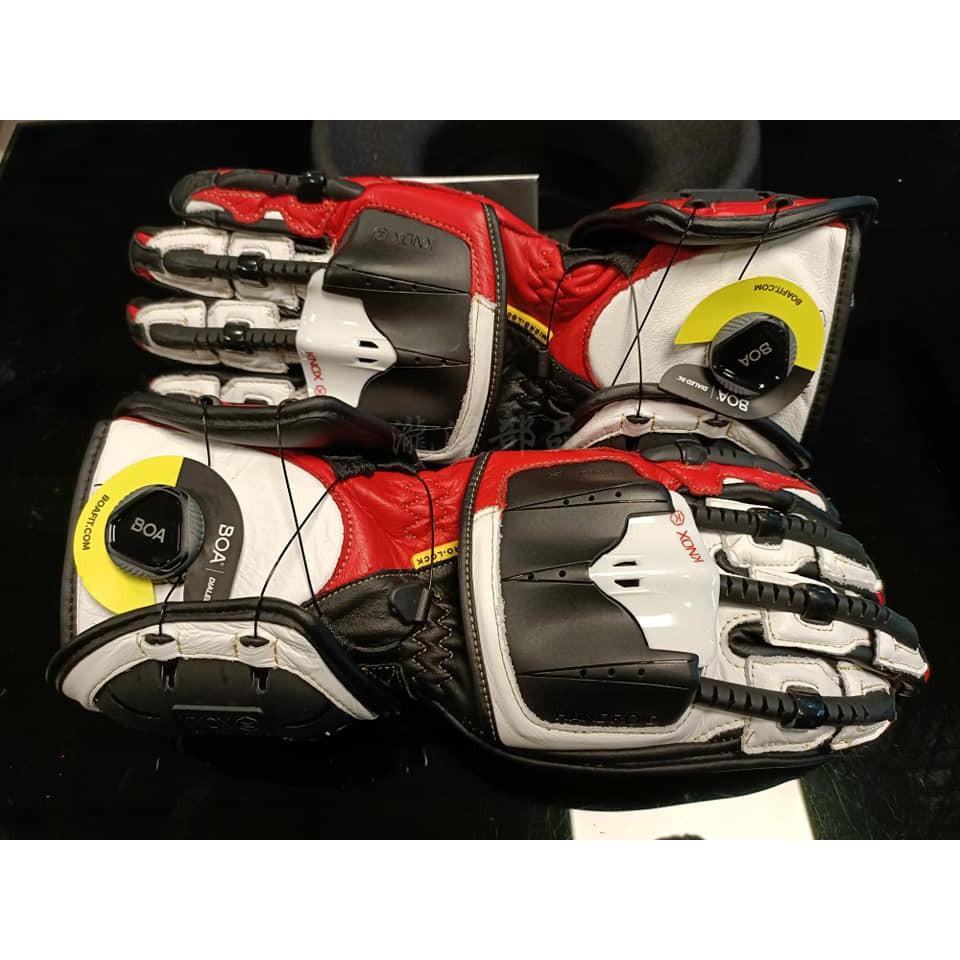 瀧澤部品 英國 KNOX Handroid MKIV 機械手套 紅 長手套 防摔防護 皮革 骨骼 護甲 頂級 耐磨 通勤