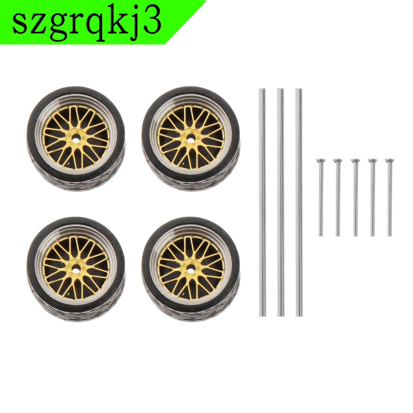 WenZhen Music 1:64比例壓鑄賽車模型車輪和輪胎組配件風格A