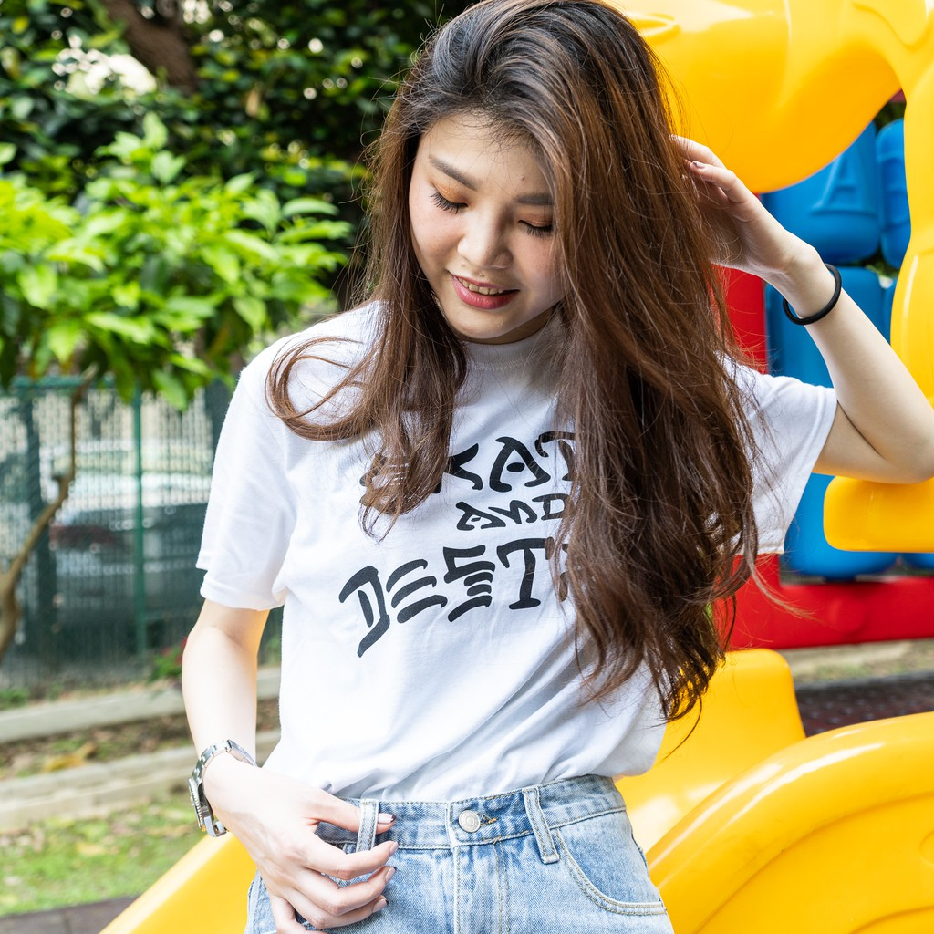 THRASHER SKATE AND DESTROY TEE 短T 白【A-KAY0】【110103WHIT】