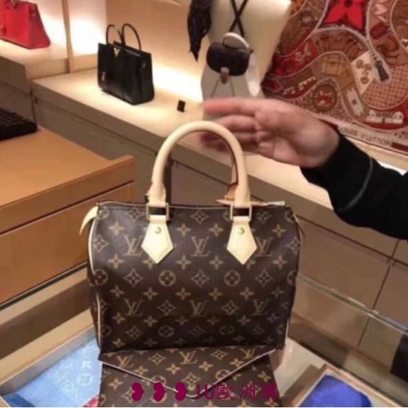 IU代購 Louis Vuitton LV SPEEDY BANDOULIÈRE 25 附背帶 手提包 M41113