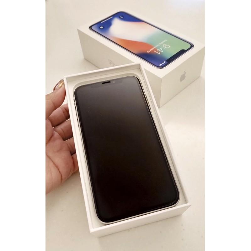 二手iPhone X 256G 白色 銀白色 9成新無傷 送犀牛盾