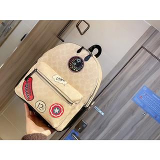 限時特價🔥美國代購COACH新款雙肩包 蔻馳女背包 走秀款 後背包 大容量 出國旅行背包 側背包 學院風休閒書包