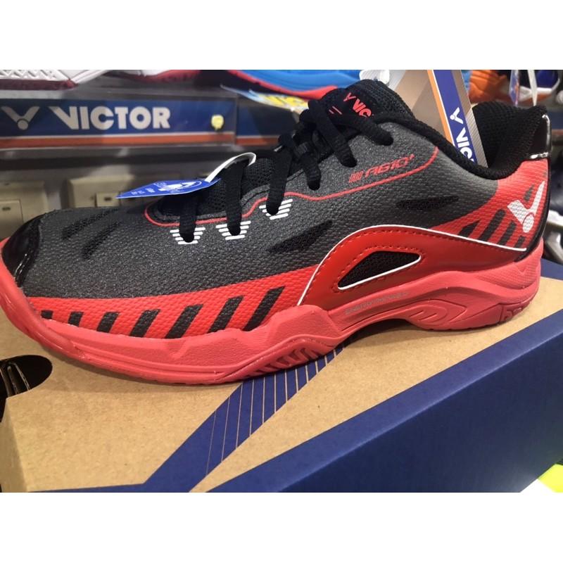 (羽球世家) VICTOR 羽球鞋 A 610 PLUS CD A610 黑紅 勝利 VICTOR 全面羽球鞋