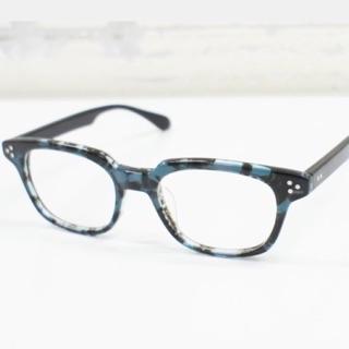 透藍攪花色方鏡框 香港 genic eyewear 台北市