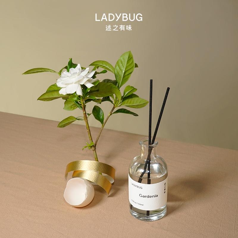 免運 香薰 精油 「梔子花還原」ladybug無火香薰純正梔子花精油藤條持久擴香室內
