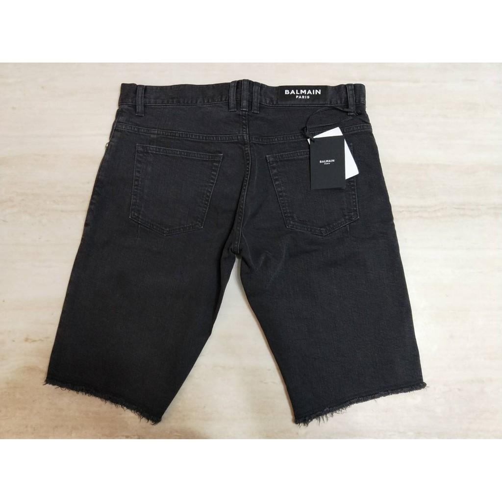 【Mark美鋪】BALMAIN 巴爾曼 LOGO 牛仔褲 短褲