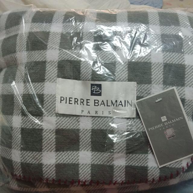 資生堂 國際櫃滿額贈品 Pierre Balmain Paris 法國 皮爾帕門  格紋法蘭絨毛毯 單人毯