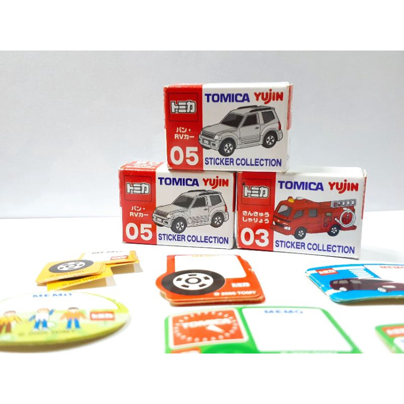 Tomica Yujin 絕版扭蛋 貼紙組合 便條紙 三組合售