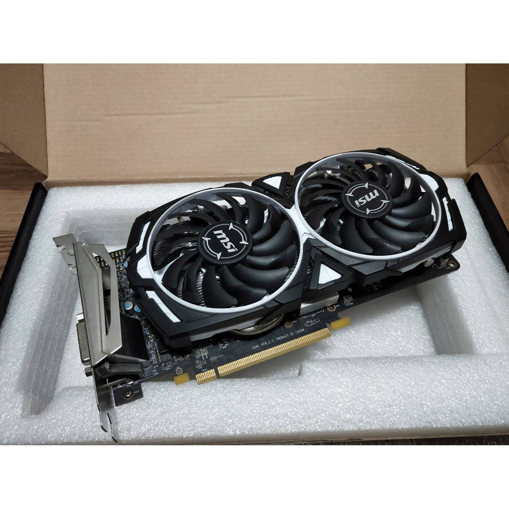 微星MSI  Radeon RX 570 ARMOR 4G OC顯示卡(RX580、GTX1650、GTX1060參考)