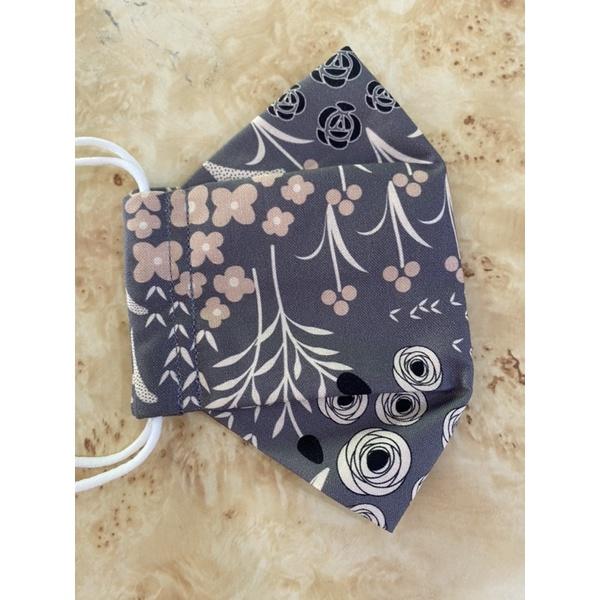 全新灰薔薇舟型韓國純棉口罩