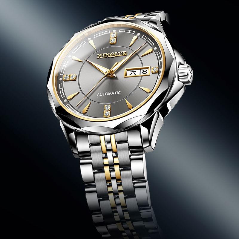 臺灣出貨正品高檔霸氣手錶男士手錶全自動機械錶男錶精鋼帶防水水鬼黑科技