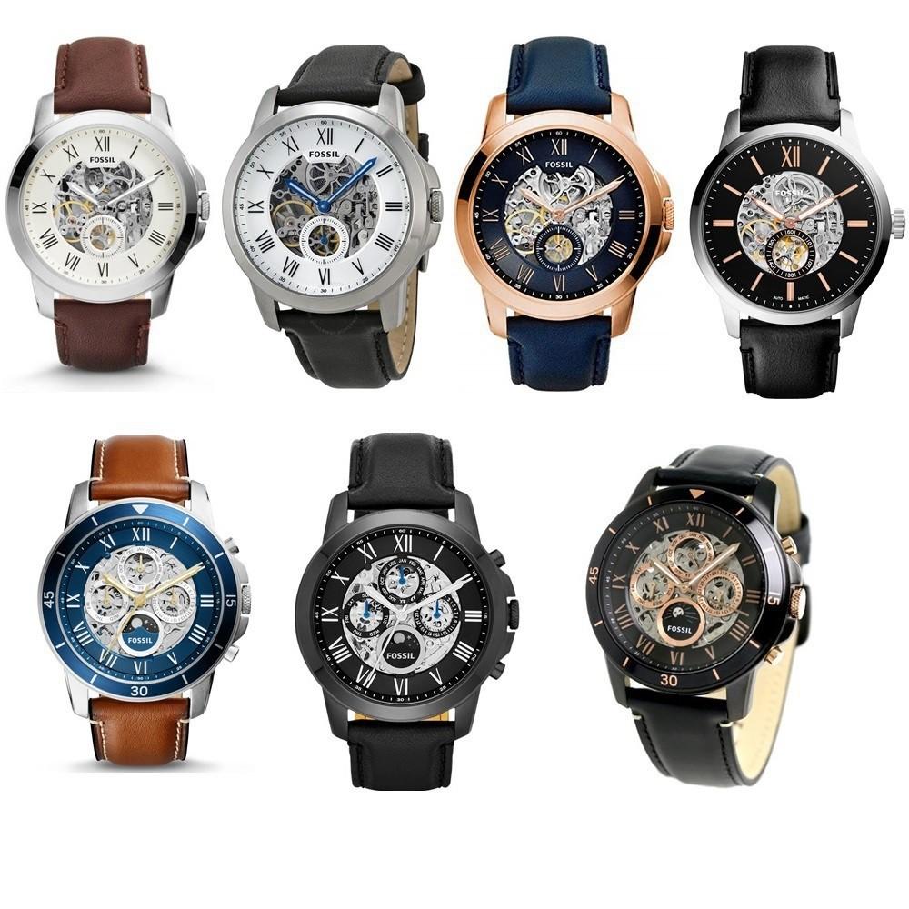FOSSIL 日月星辰/背蓋簍空 機械錶 44MM 【Watch World-Store  】