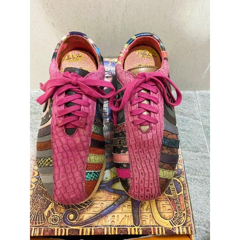 麥坎納MACANNA 全牛皮波希米亞圈圈鞋 Size:35.5/22.5/5.5