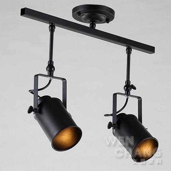 LOFT 工業風 投射燈 炮筒吸頂燈 2頭 LCE-006-2 文昌家具