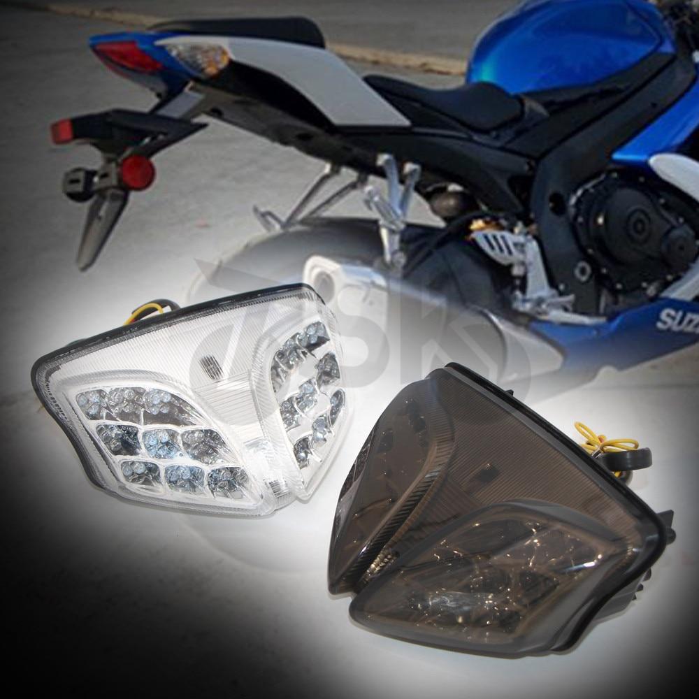鈴木GSXR GSX-R 600 750 2008-2012 K8 K9集成式LED後尾燈轉向燈