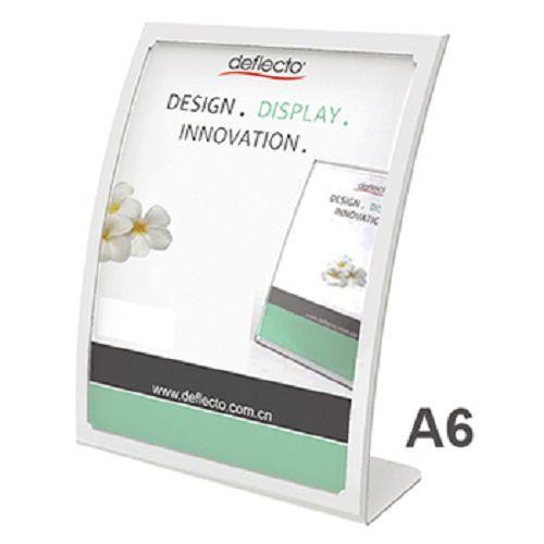 美國迪多Deflect-o 抗眩光曲面展示架A4(白)