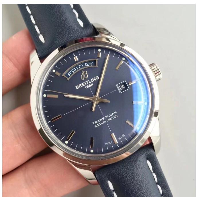 Breitling 百年靈手錶 越洋系列 cal45 男士機械腕錶 現貨