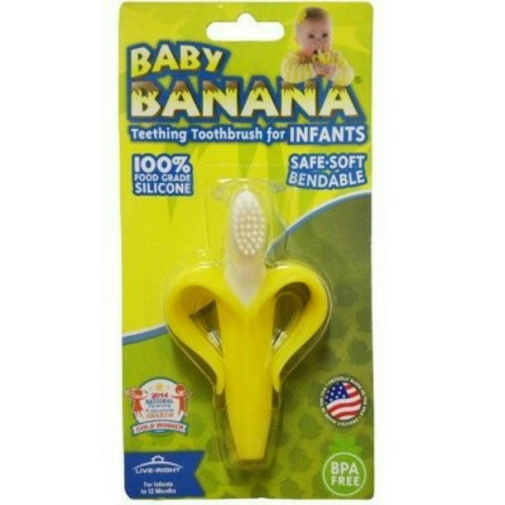 ☆★現貨★☆美國製Baby Banana 嬰兒牙刷 /固齒器