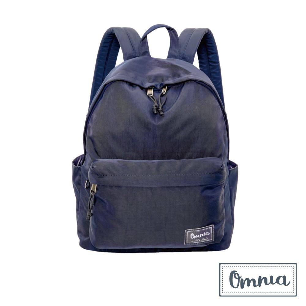 【OMNIA】日系休閒尼龍NB後背包 經典款學生後背包(深藍)