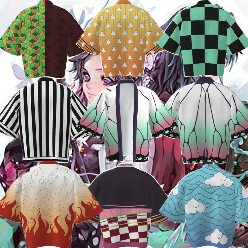 【鬼滅之刃】動漫cosplay披風 鬼滅之刃外套 薄款披風睡衣 二次元和服外套 動漫周邊服飾 灶門祢豆子同款披風