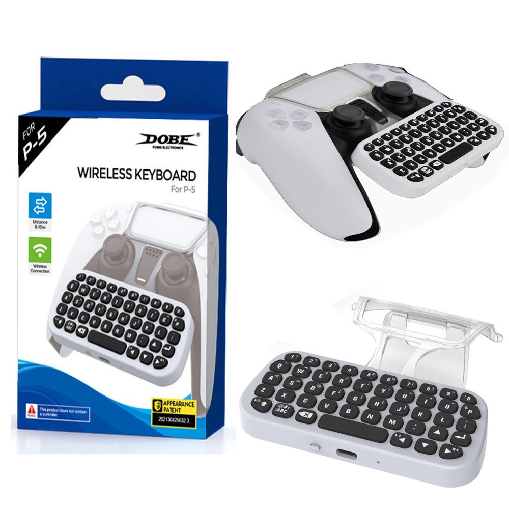PS5手柄藍牙無線鍵盤外接帶夾子PS5可聊天語音鍵盤 TP5-0556