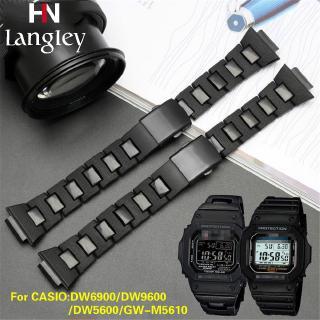 卡西歐 G-Shock Dw5600 Dw6900 Gw-M5610 Dw9600 系列塑料不銹鋼錶帶手鍊