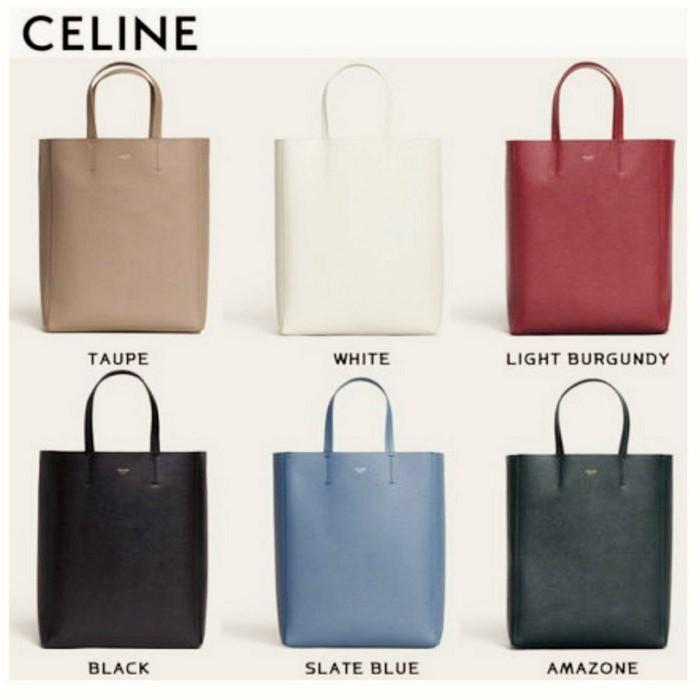 正品現貨CELINE Cabas 黑色/棕灰咖裸色/亞馬遜深綠色/酒紅色/藍色/白色 小款 真皮手提托特肩背水桶包