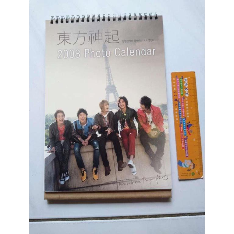 東方神起 2008 Photo Calendar 桌曆 二手物