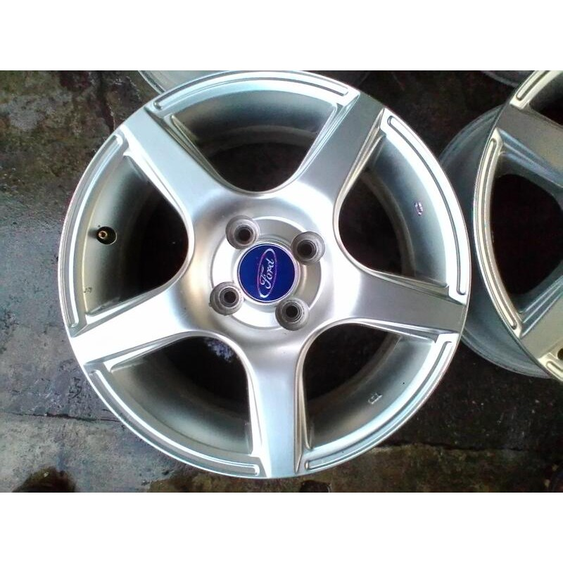原廠鋁圈15吋 Ford 福特 TIERRA LS RS AERO 5爪平面亮銀 4孔100 4/100 你愛他