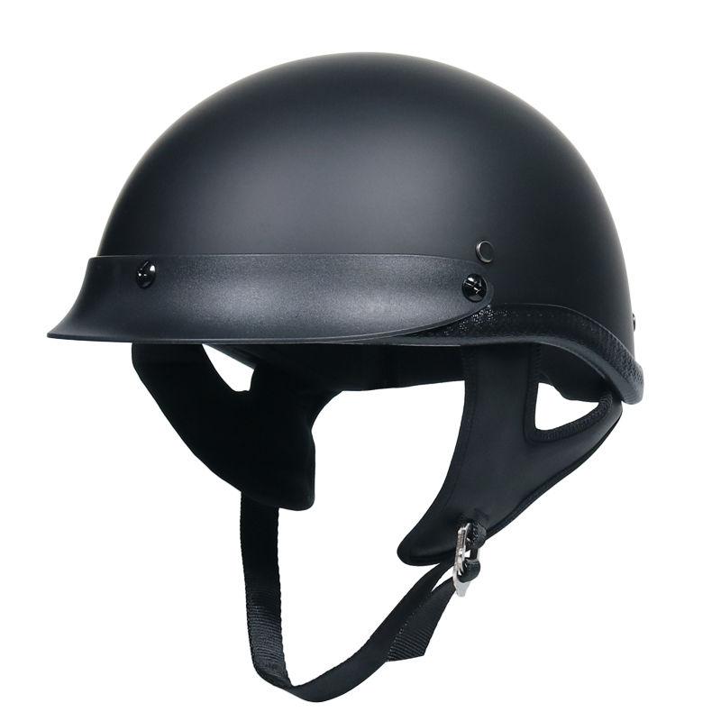 🔥機車头盔 精品 安全🔥VOSS機車哈雷頭盔男女半盔輕便式復古機車電動車安全帽四季