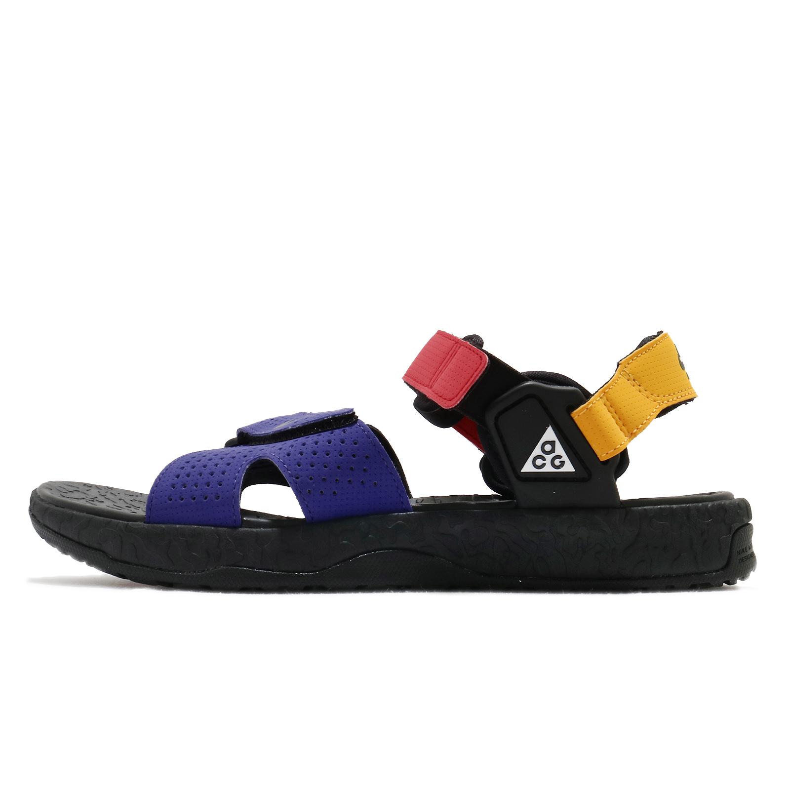 Nike 涼鞋 ACG Deschutz 藍 紅 黃 黑 戶外風格 魔鬼氈 男鞋 女鞋 【ACS】 CT3303-400