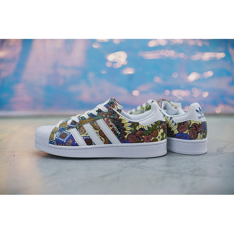 "lowest price 2775f 3e8c5 Adidas Superstar W""Tropical""百搭 貝殼頭 經典 休閒滑板鞋 BY9178 男女"