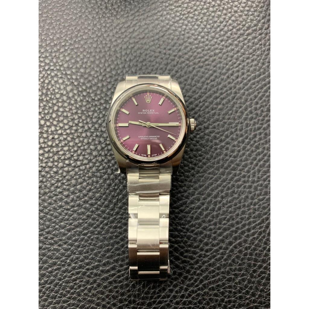 【最新款】勞力士腕錶手錶ub 114300紫面