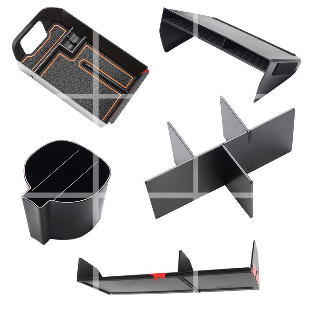 10月上新5代RAV4 豐田Toyota rav 4 xa50中央扶手箱分類置物隔板 副駕駛手套箱 收納儲物 水杯架