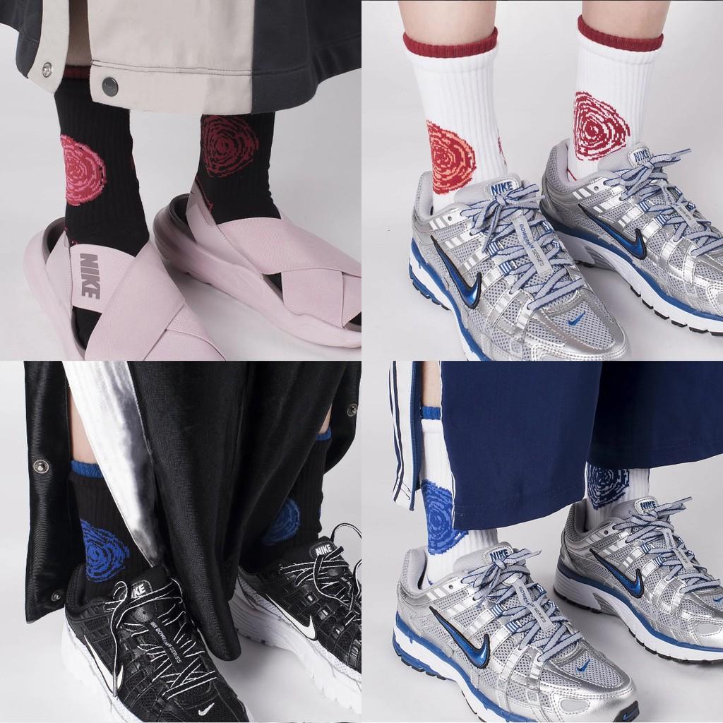 { POISON } NOZZLE QUIZ SPEED S2 SOCKS 雙層襪口設計 中筒橫紋羅織襪