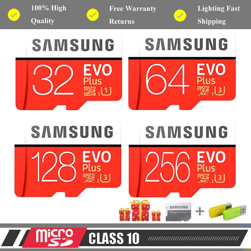 三星 Evo Plus 存儲卡 32gb / 64gb / 128gb / 256gb / 512gb Micro Sd