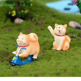 秋田造型公仔 柴犬 秋田犬 動物公仔 小狗 Zakka 多肉植物盆栽裝飾 微景觀 裝飾品 拍攝道具