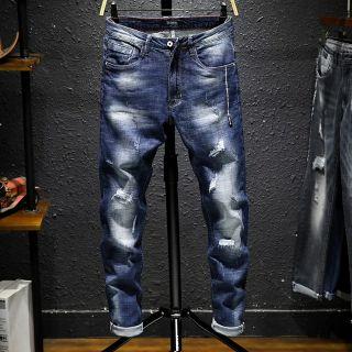 歐美 牛仔水洗藍 破壞褲 嘻哈 饒舌 HIP HOP MJF  尺寸28腰~36腰 彰化縣