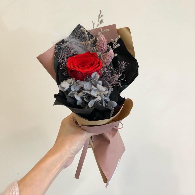 小華麗感永生花玫瑰花束情人節節花束乾燥處束