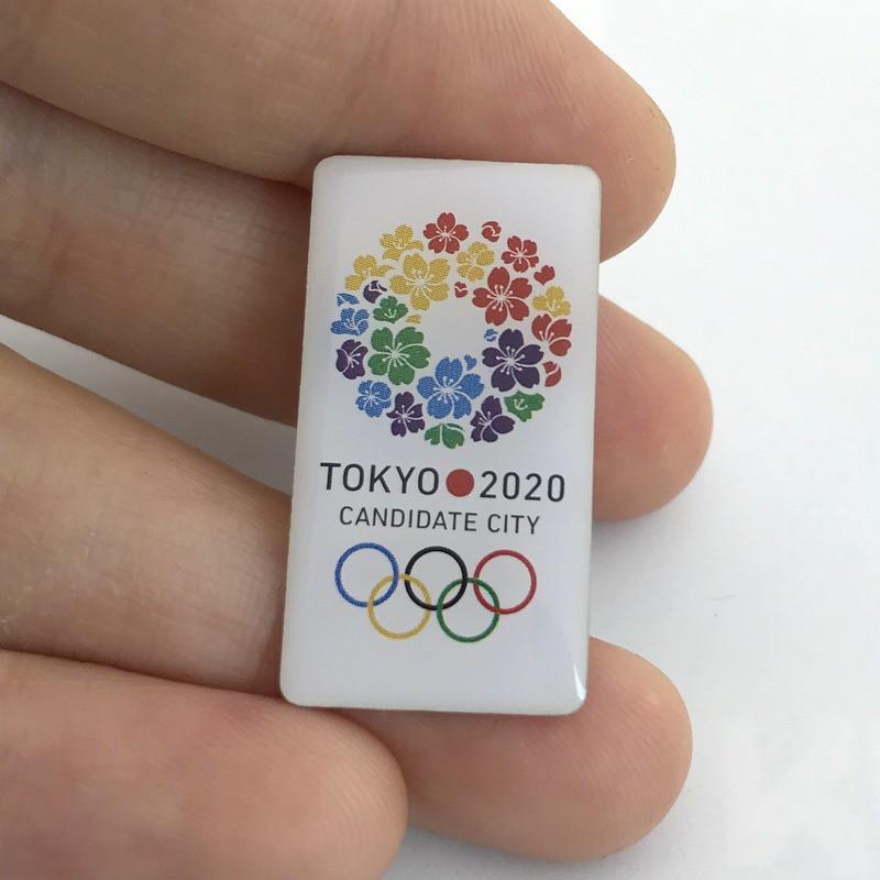 現貨 東京 奧運會 限量 紀念品 周邊 2020日本東京奧運會徽章候選城市申奧會徽紀念章櫻花胸針禮物