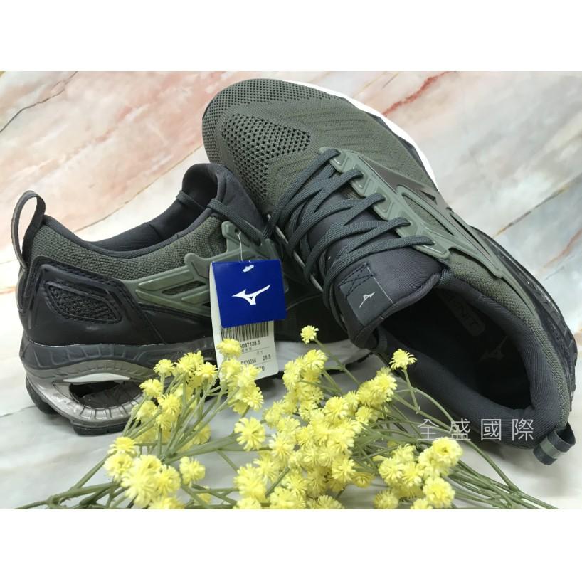 MIZUNO(男)慢跑鞋WAVE CREATION WAVEKNIT運動鞋 J1GC193358 軍綠