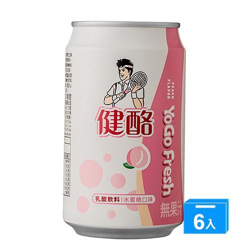 健酪乳酸飲料水蜜桃口味320ML x 6【愛買】